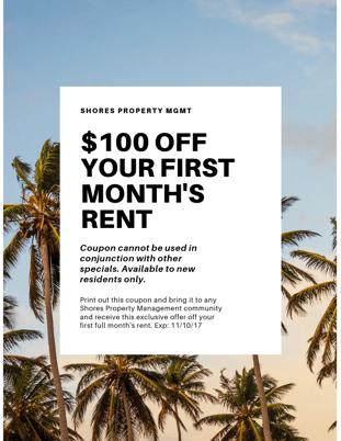 Rental coupon