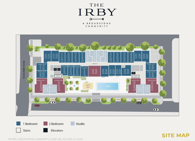 The Irby Site Map