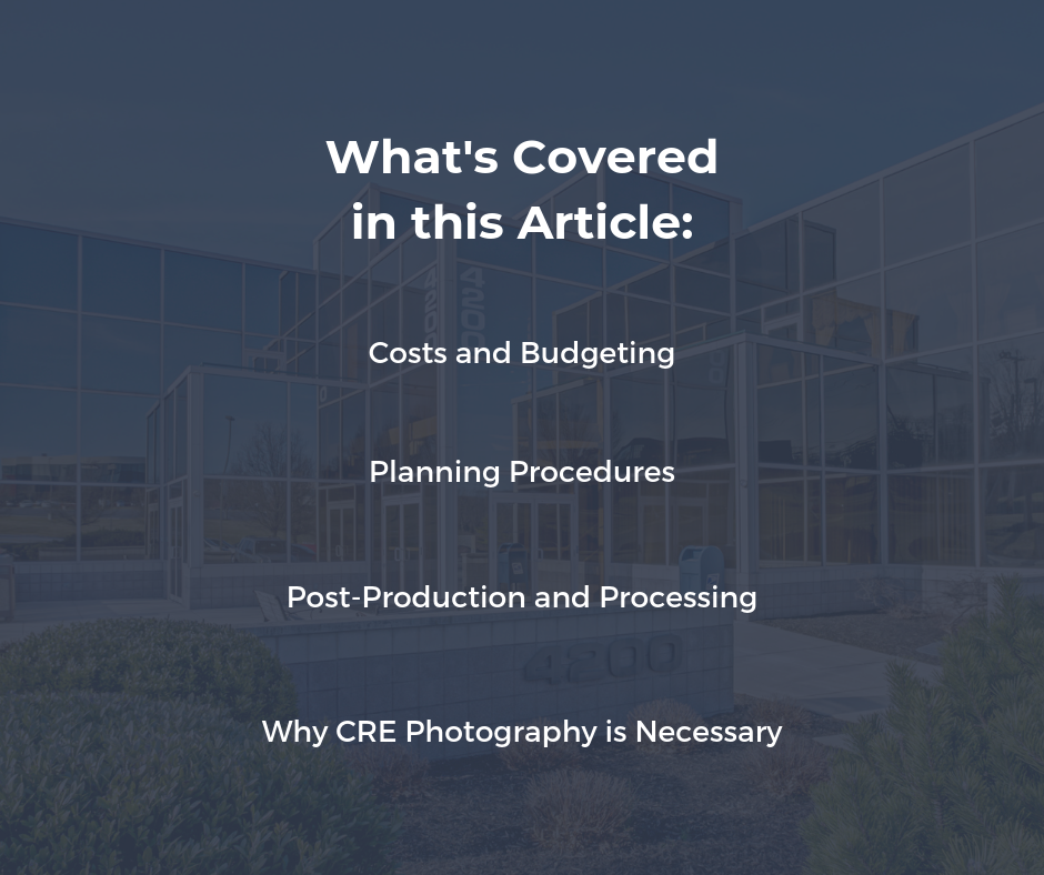 CRE Photography Guide - What's Covered