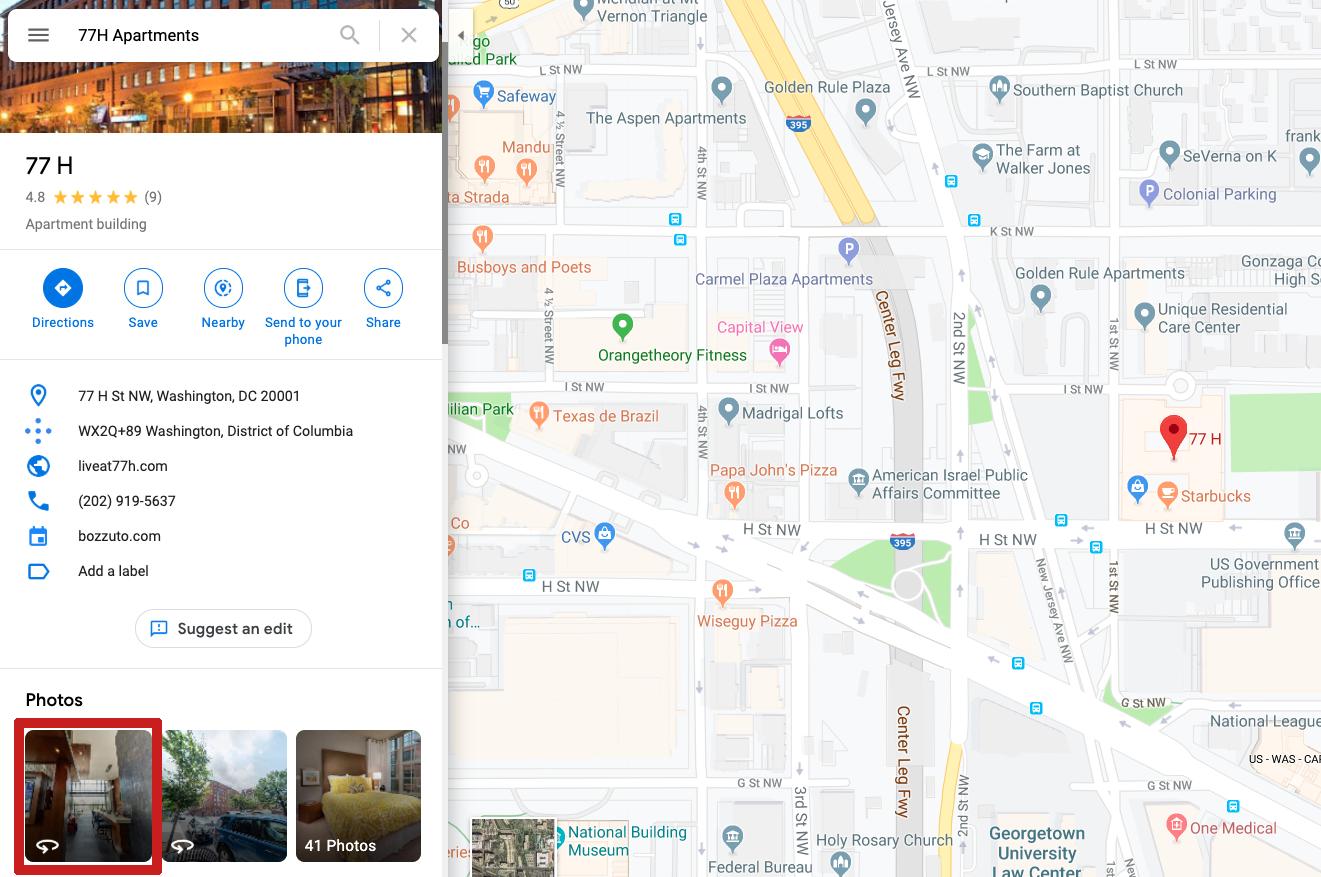Embed Google Tour on Website - Step 1