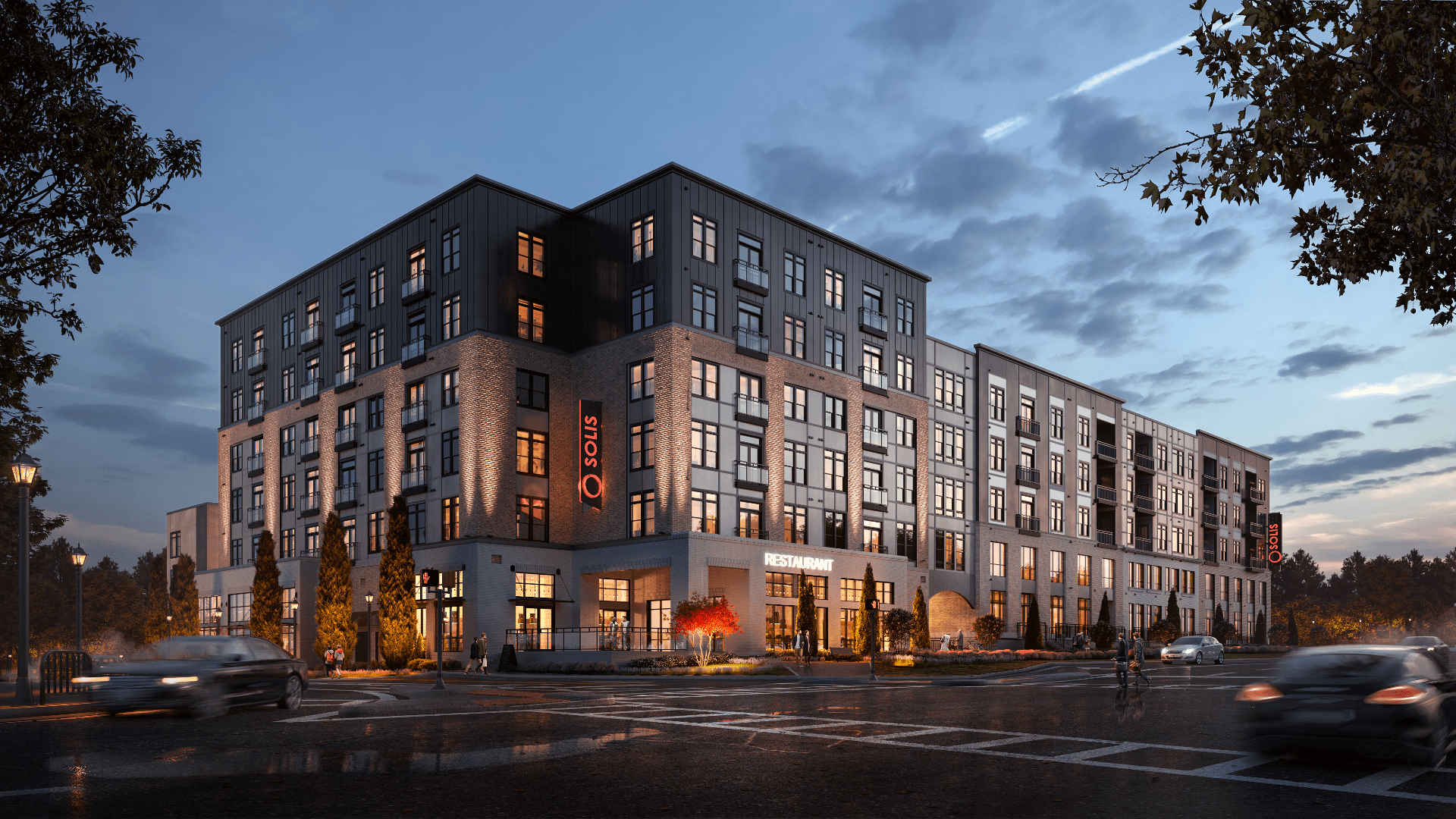 Exterior Rendering - Building at Night 2