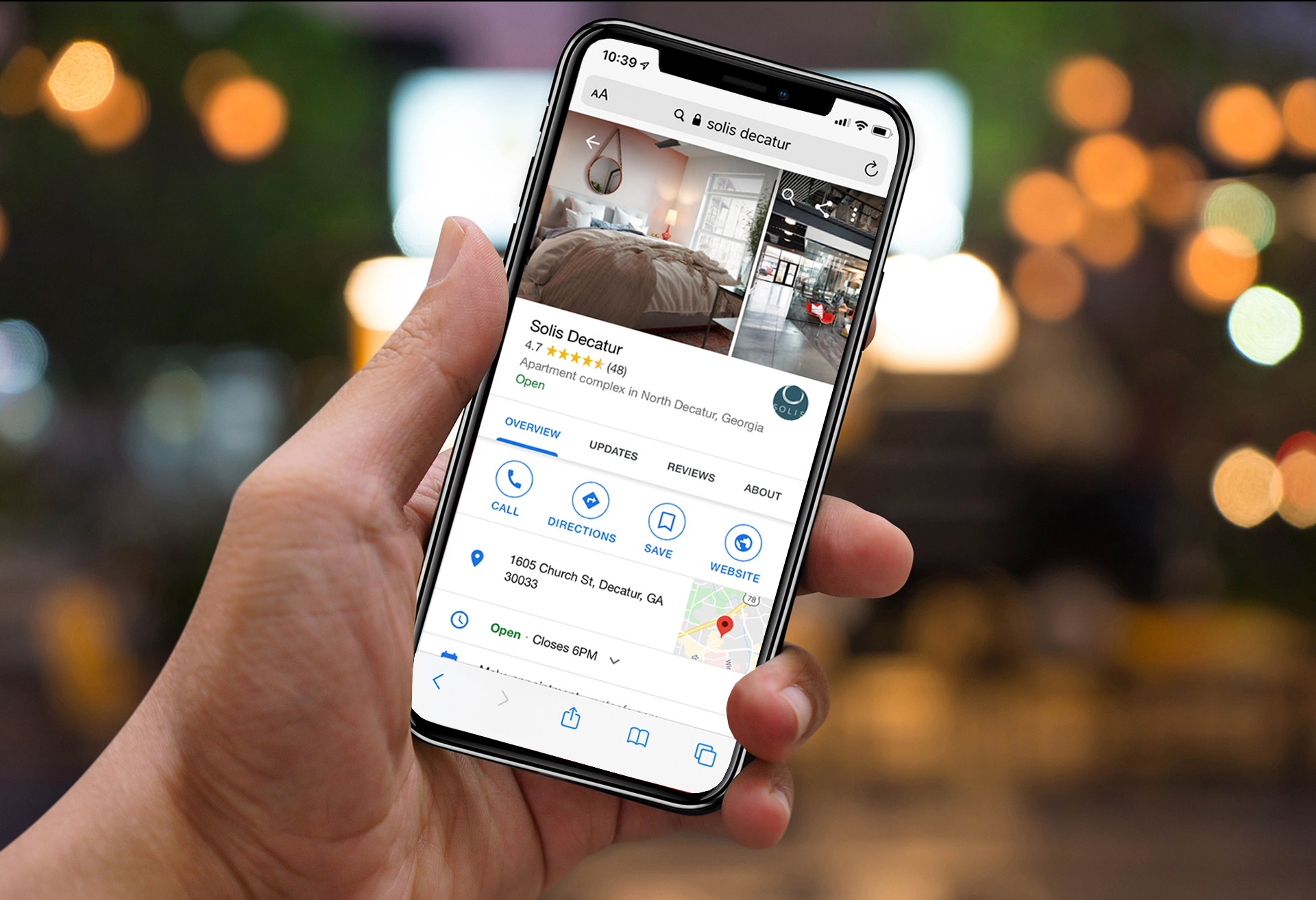 Hand Holding Phone - Google Businss Listing