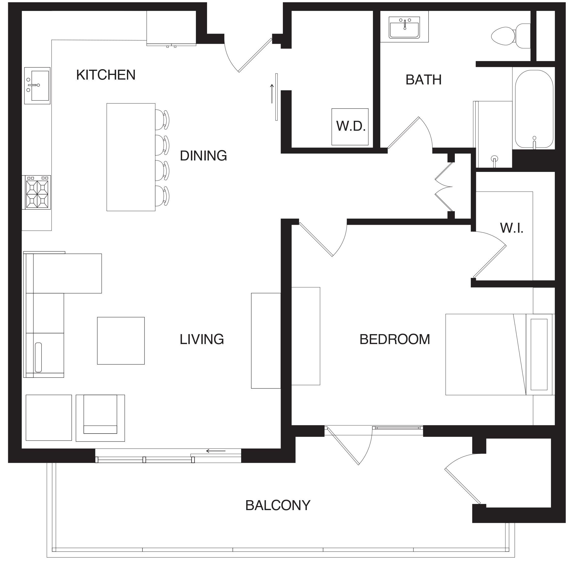 2D Furnished Floor Plan