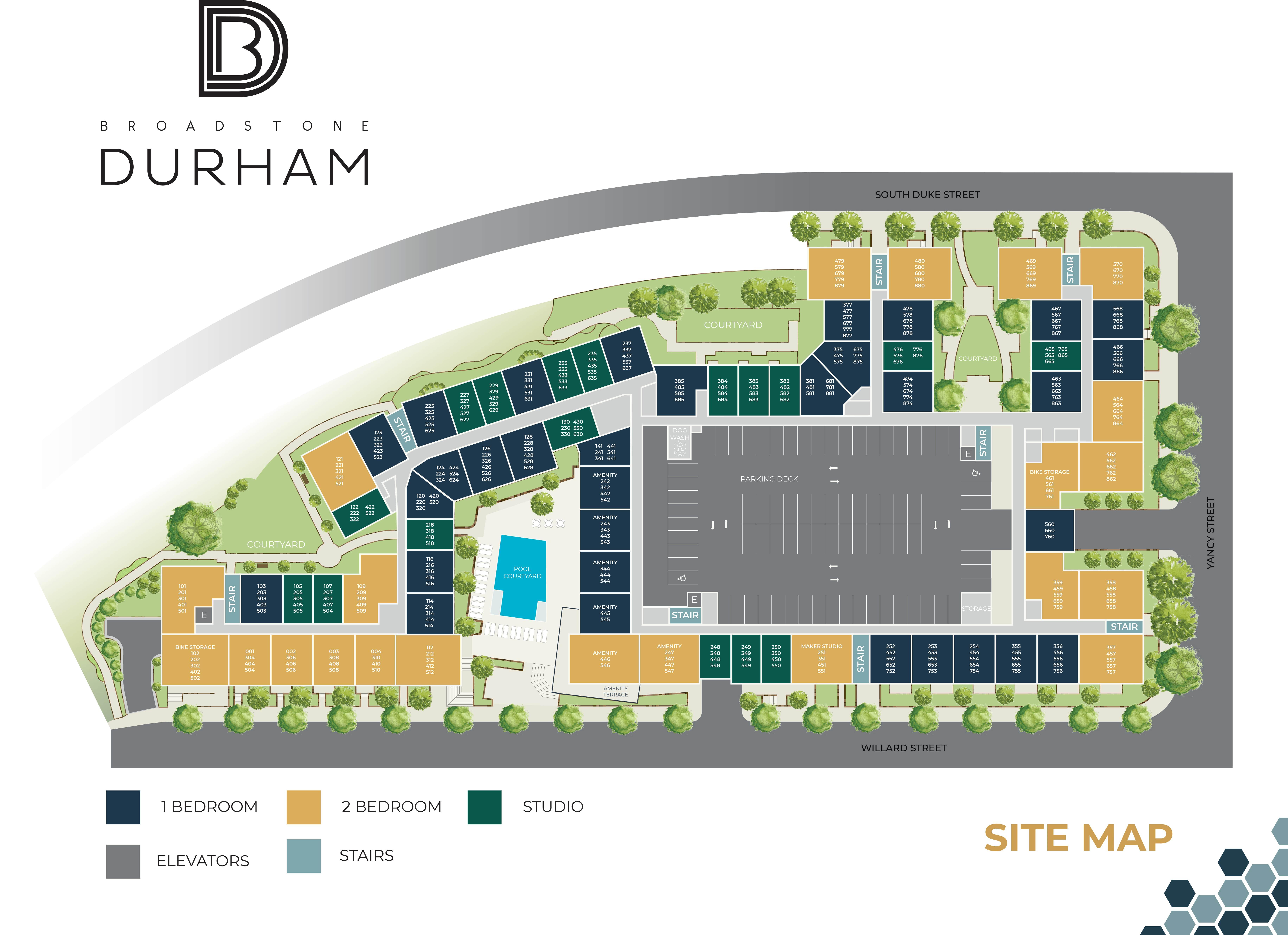 Durham - Site Map