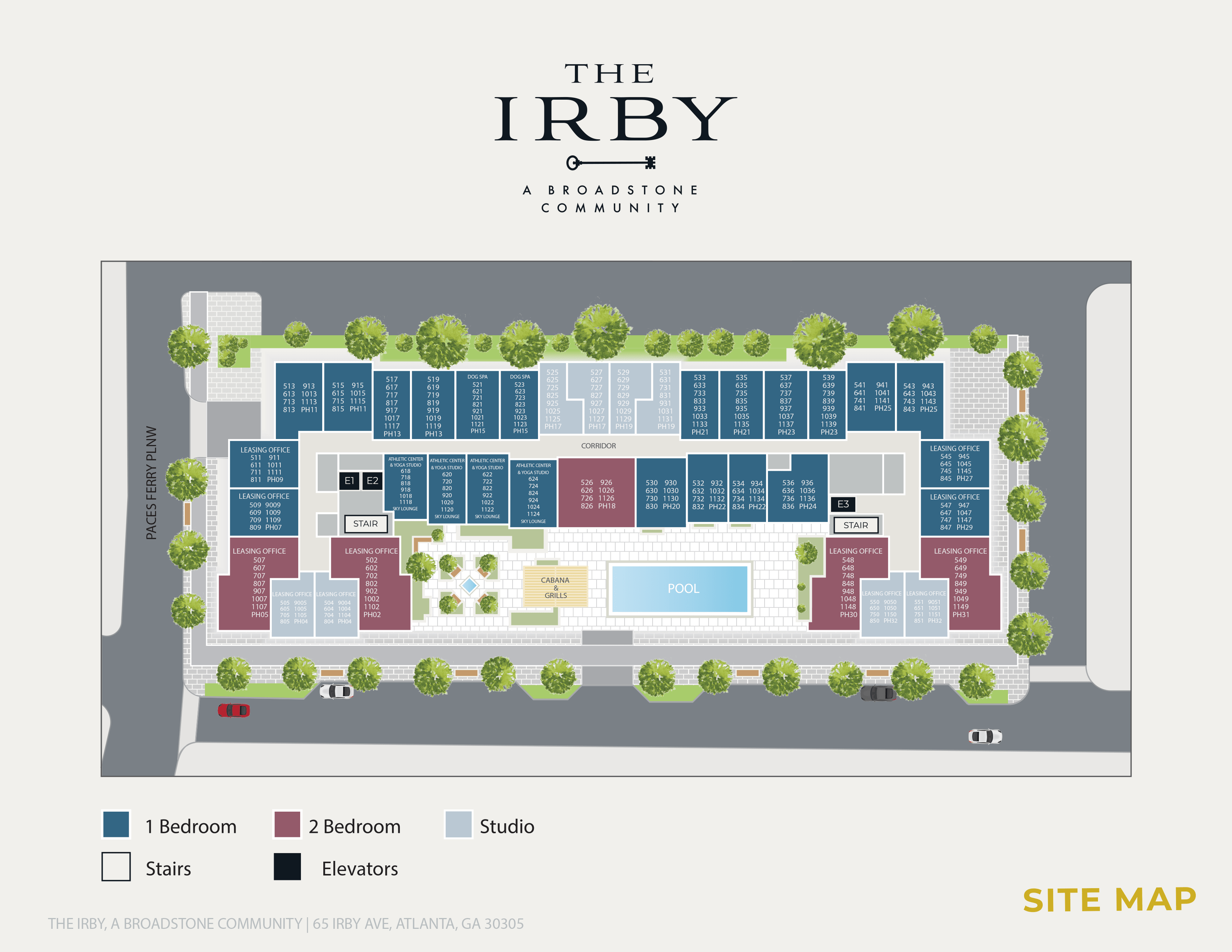 Irby - Site Map