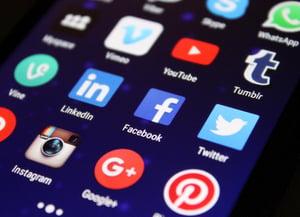 social media on phone screen