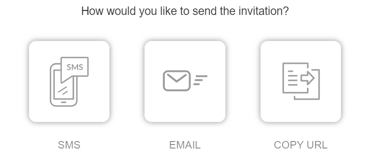Inviting attendees to a virtual meeting