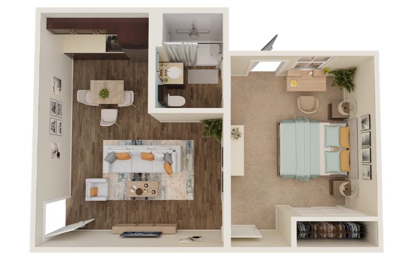 3D Floor Plan - Senior Living