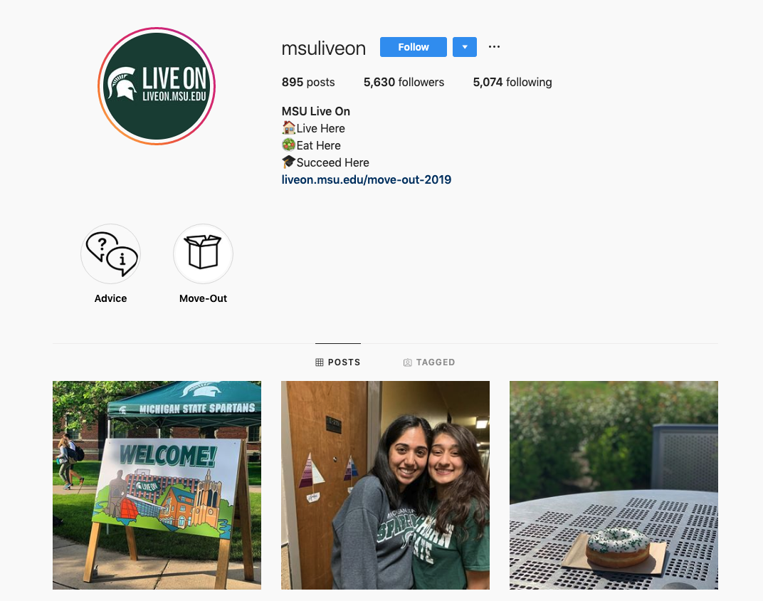 MSU LiveOn Instagram