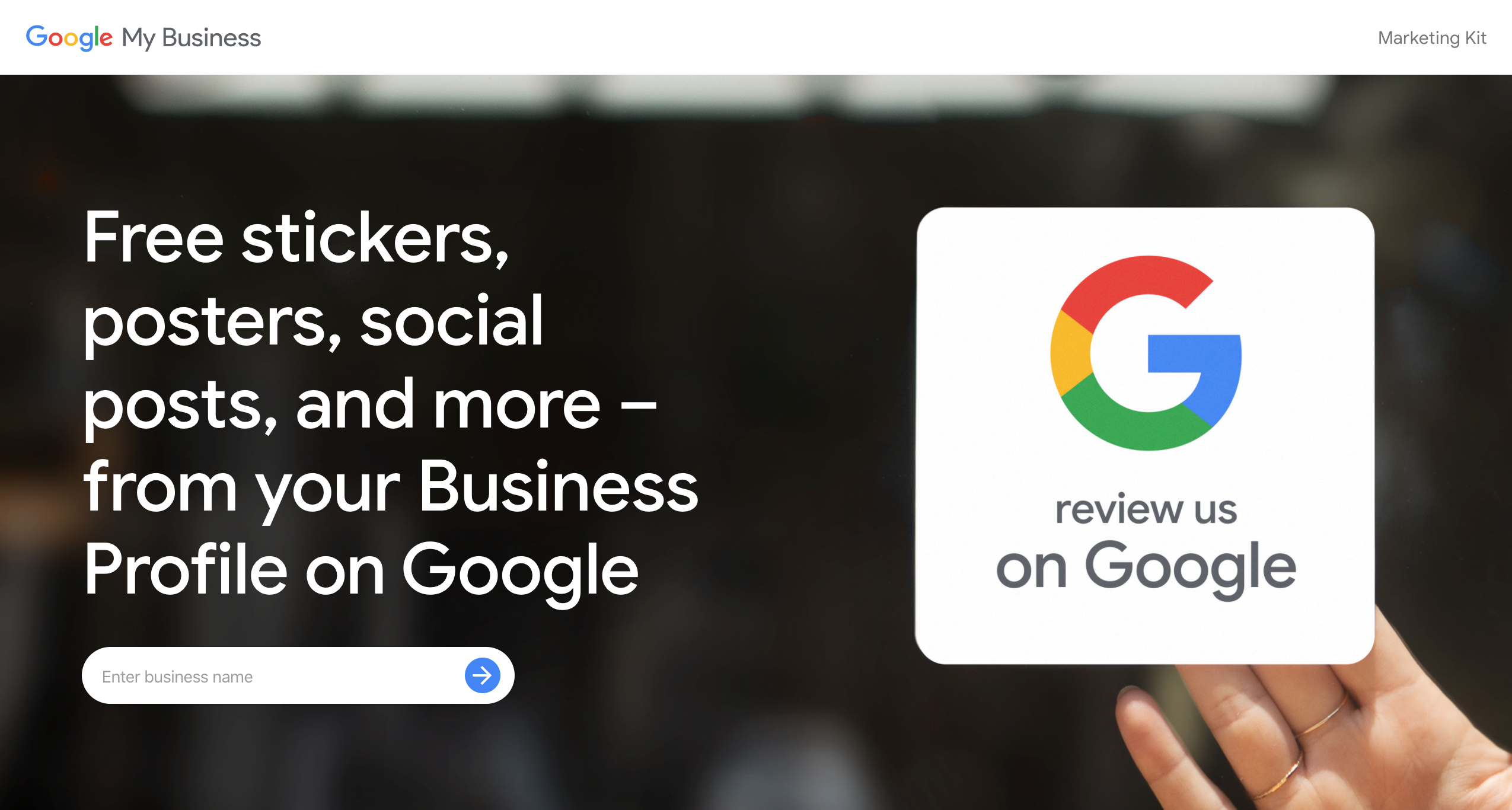 Google My Business Marketing Kit