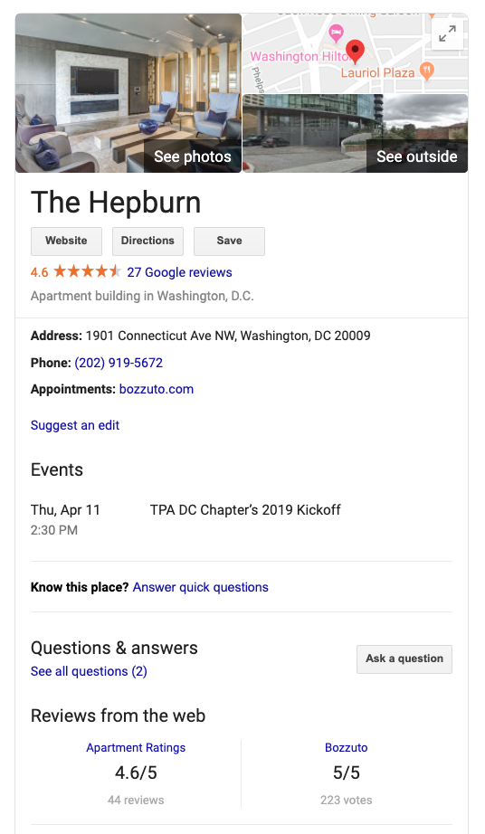 The Hepburn DC