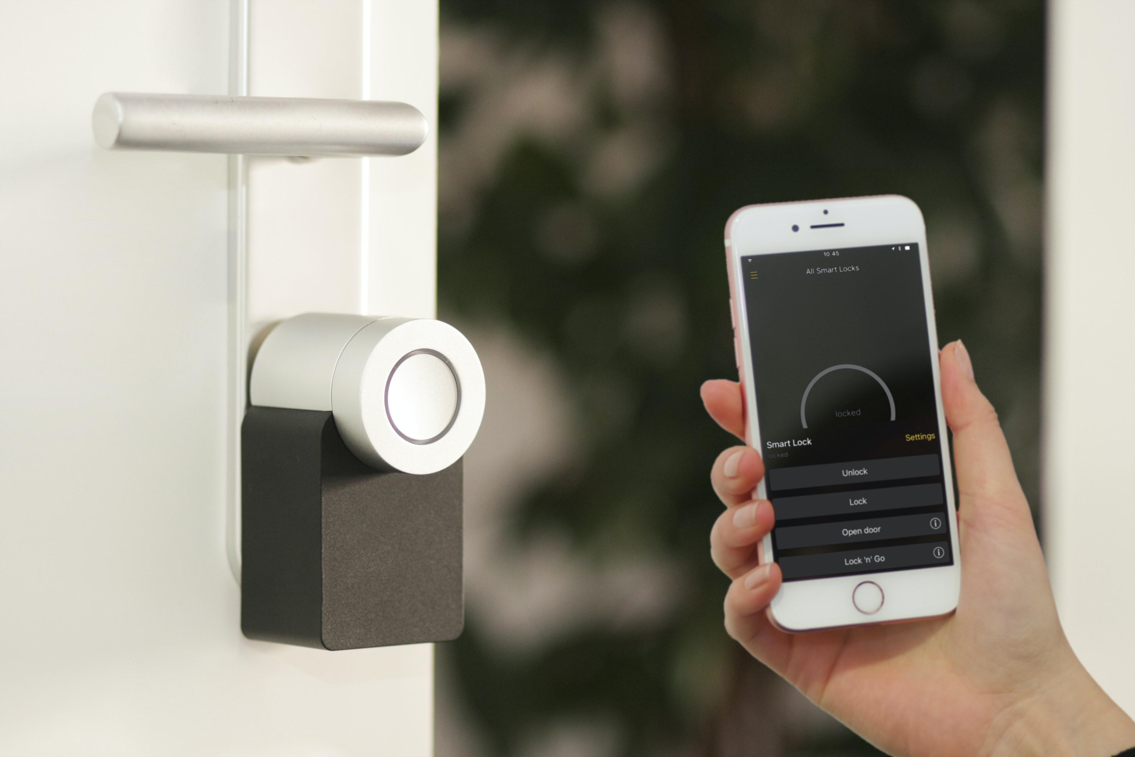 Unlocking door with smart lock