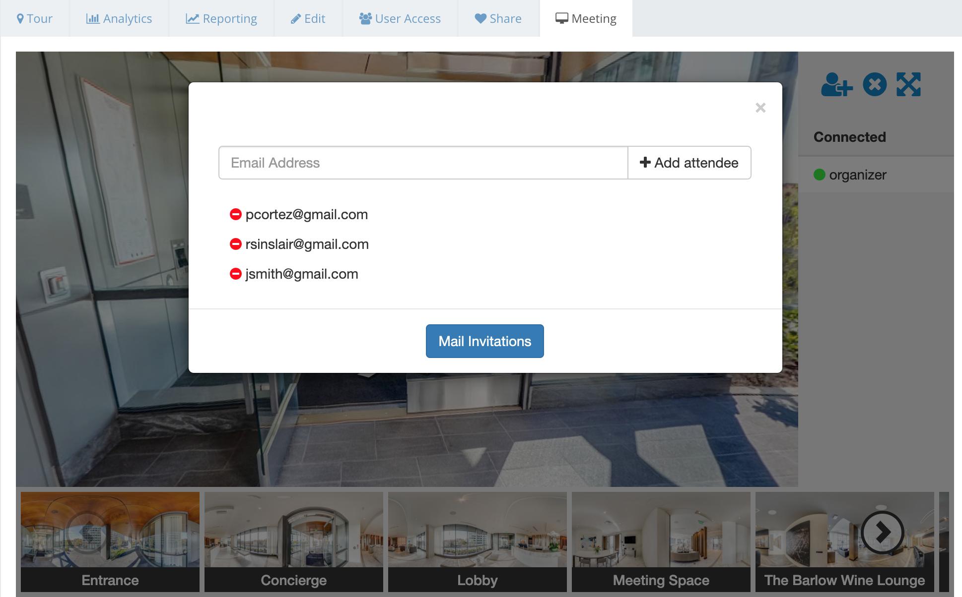 Virtual Meeting Tool - Panoskin