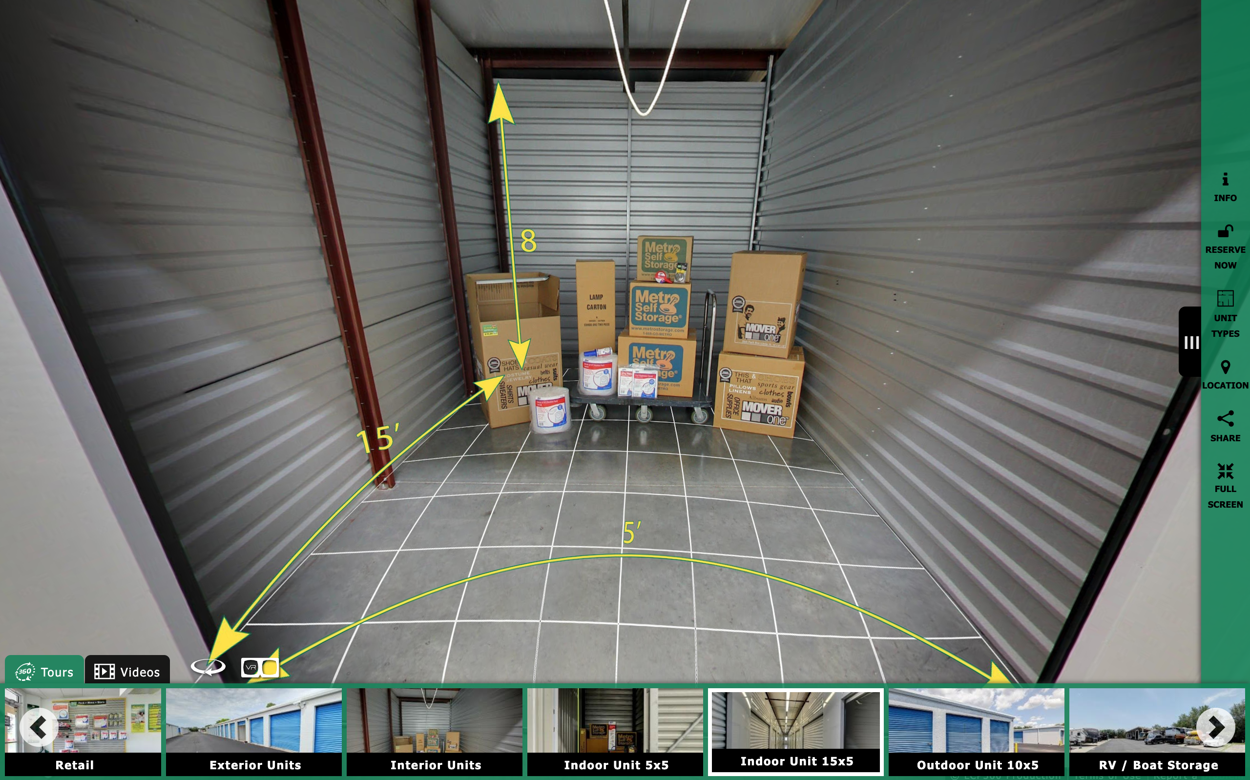 Self Storage Virtual Tour