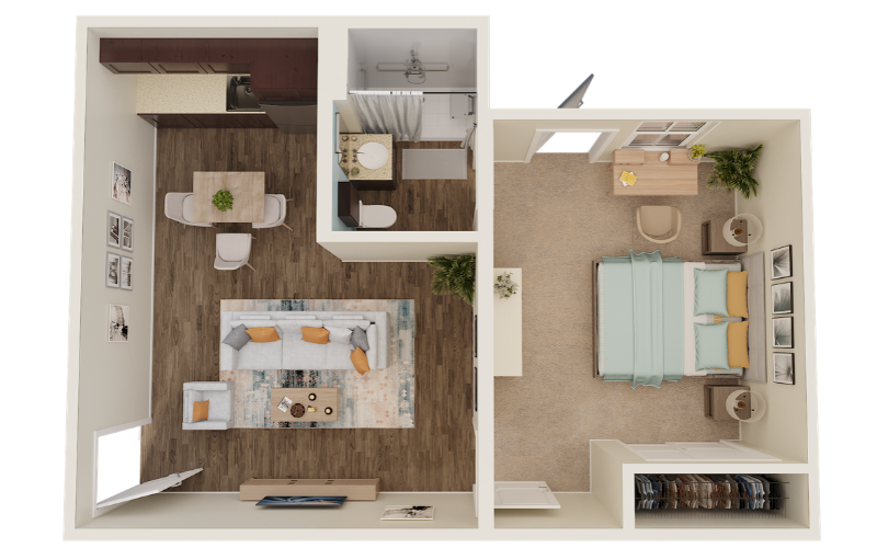 3D Floor Plans - Senior Living
