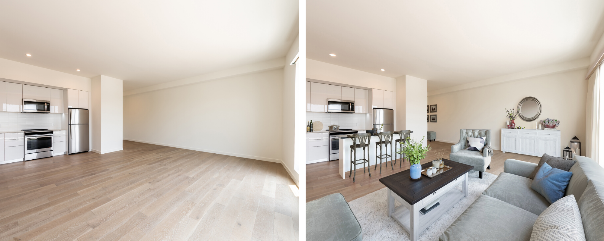16 Stunning Apartment Virtual Staging Before and After Photos